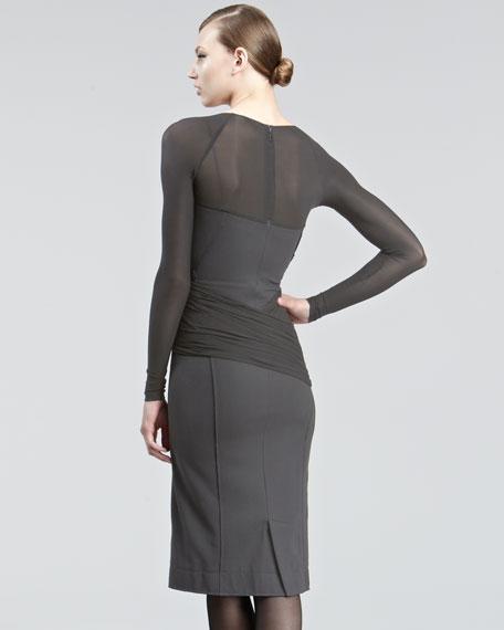 Wrap-Waist Jersey Dress