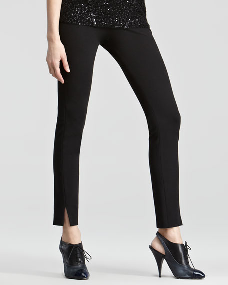 Slit-Cuff Pull-On Pants