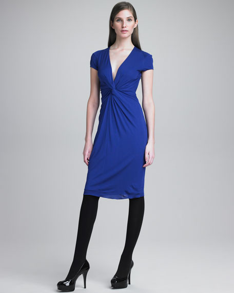 Knot-Front Jersey Dress