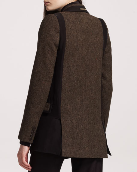 Tweed/Chiffon Blazer