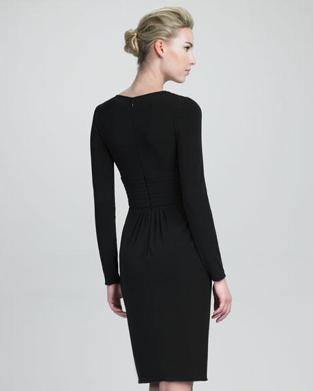 Trapunto-Detail Dress