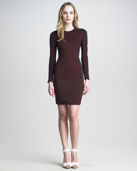 Ponte-Jersey High-Waist Skirt