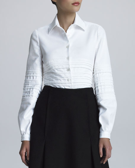 Quilted Pique-Knit Shirt