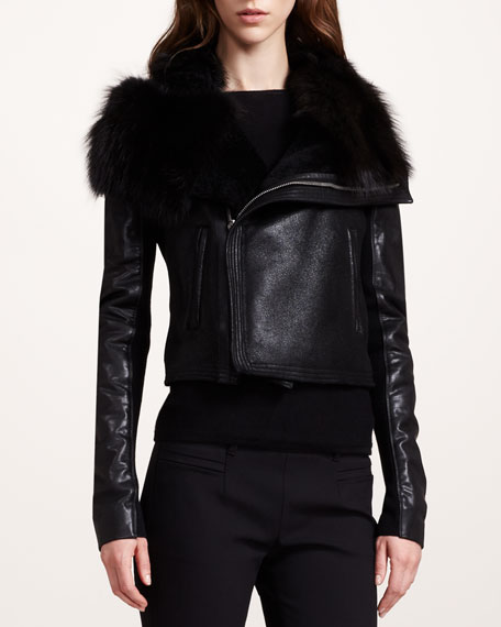 BG 111th Anniversary Fur-Detail Leather Jacket