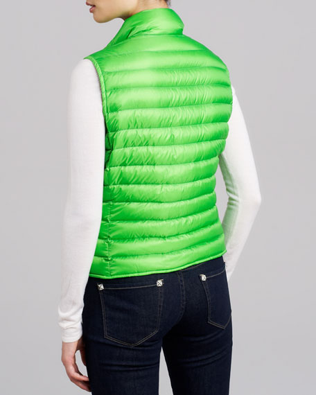 Quilted Puffer Vest, Citrus