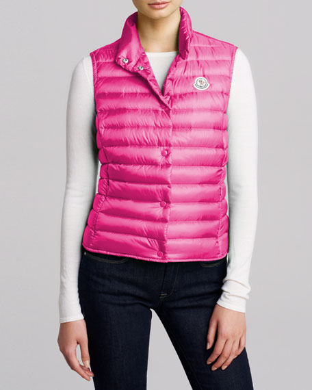 Quilted Puffer Vest, Fuchsia