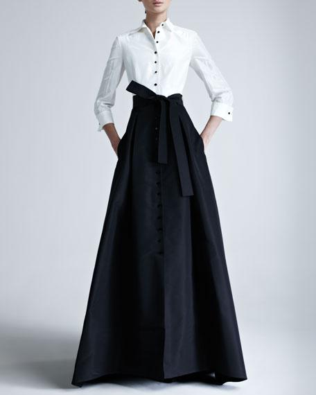 Shirtwaist Taffeta Ball Gown