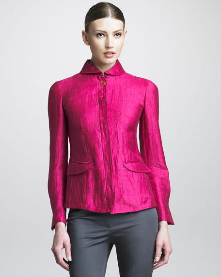 Taffeta Shirt Jacket