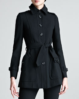 Burberry London Short Tailored Trenchcoat
