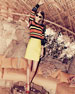 Crochet-Striped Pullover