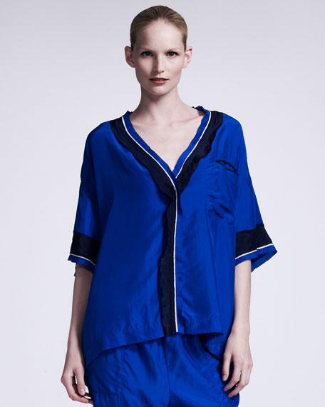 Silk Satin Pajama Top