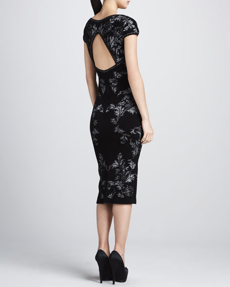 Bonded Jacquard Sheath Dress