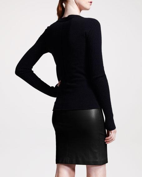 Lambskin Pencil Skirt