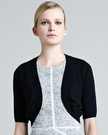 Knit Silk Shrug, Black