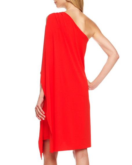 Matte-Jersey Toga Dress