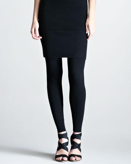 Stretch-Cashmere Tube Skirt, Black