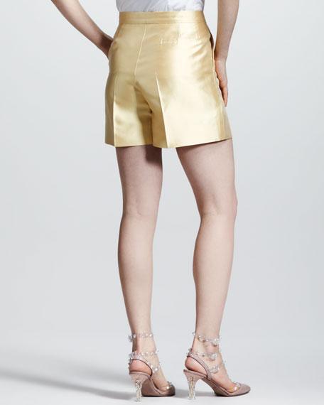 Pleated Mikado Shorts