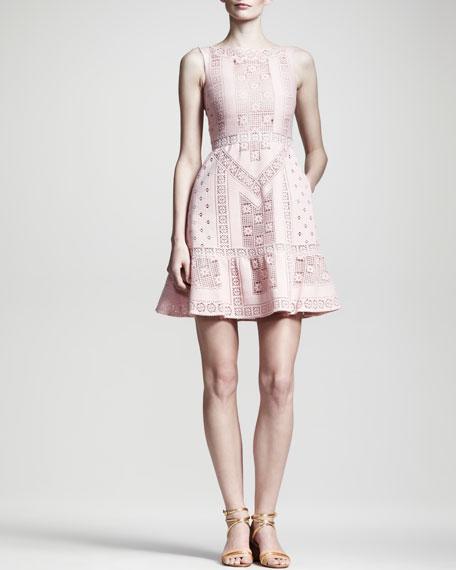 Lace Voulant Dress, Poudre