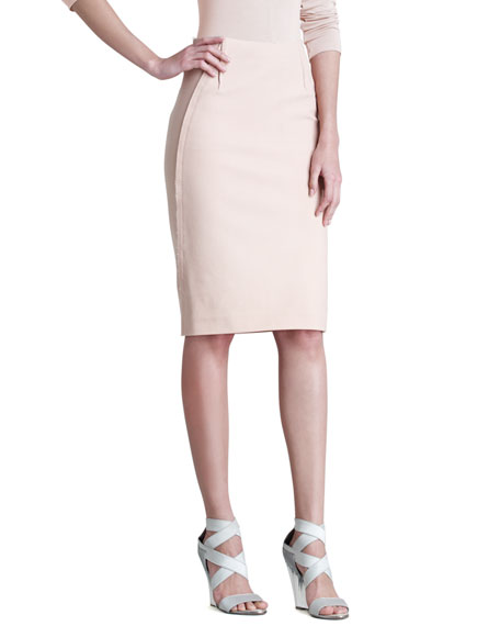 Matte Stretch Pencil Skirt