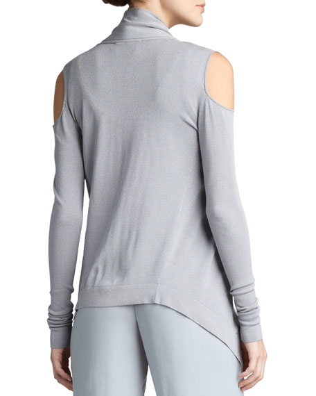 Open-Shoulder Cozy Cardigan