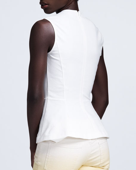 Contour-Seamed Sleeveless Top