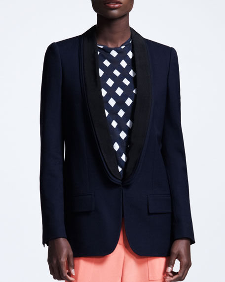 Triple-Lapel Tuxedo Jacket, Navy