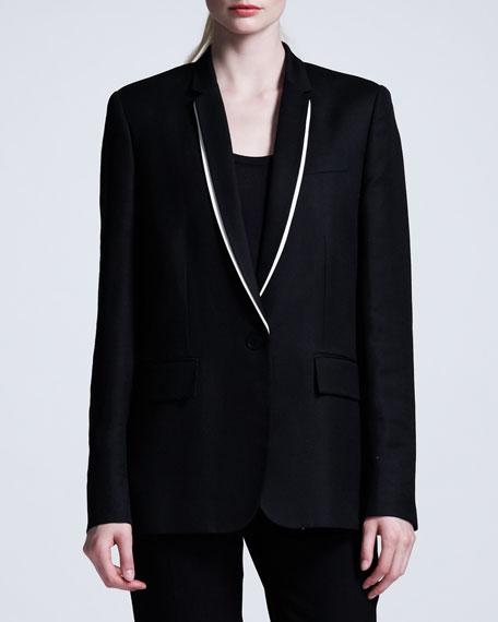 Shawl-Collar Boyfriend Blazer