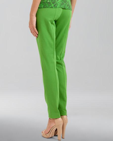 Double-Faced Cotton-Silk Pants, Grass