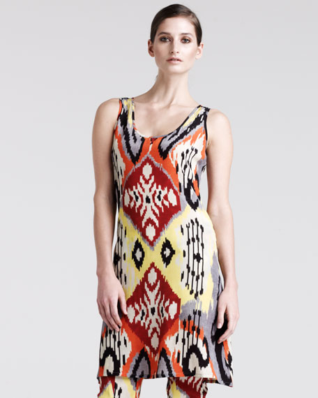 Bushbuck Ikat-Print Tunic-Top-Dress