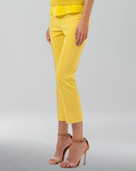 Cropped Pants, Citron