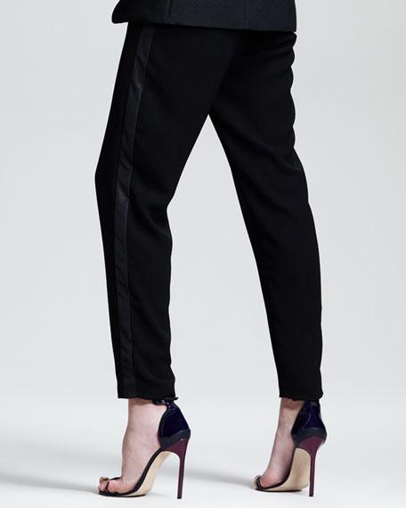 Tuxedo-Stripe Track Pants