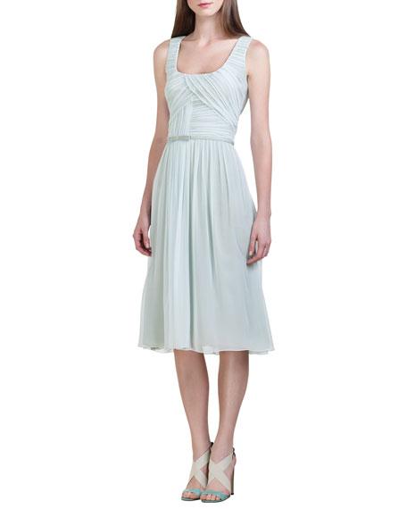 Silk Chiffon Dress, Seafoam