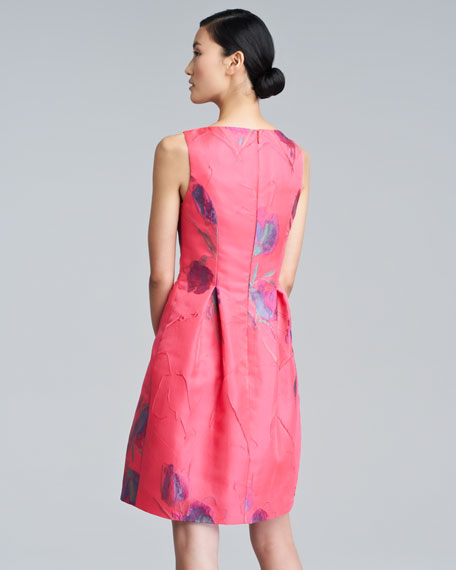 Floral-Pattern Bateau Dress