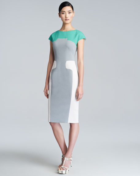 Contour Colorblock Sheath Dress