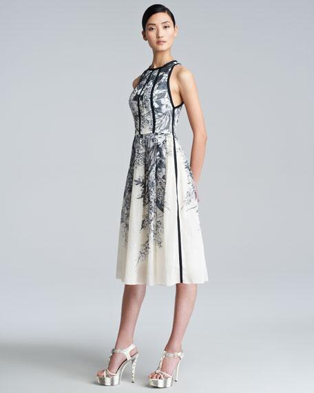 Floral-Print Halter Dress