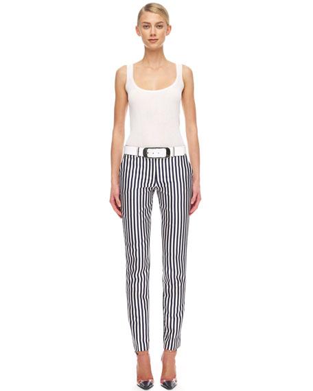 Striped Shantung Pants