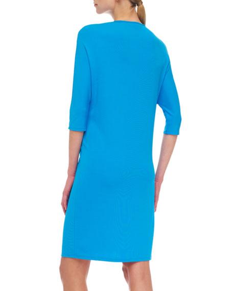 Matte Jersey Tie-Waist Dress
