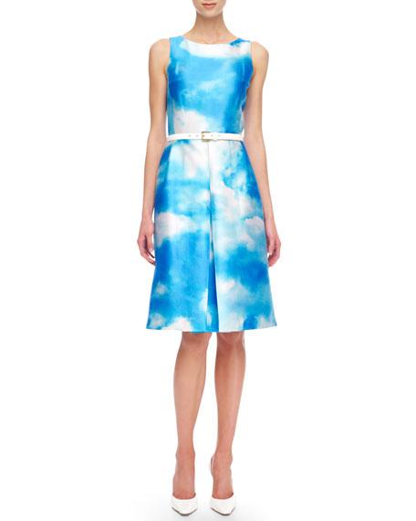 Cloud-Print Dress