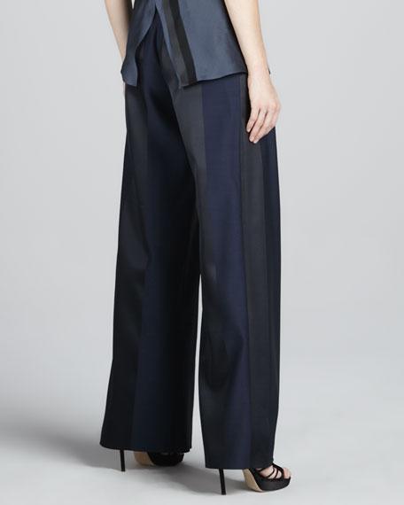 Paneled Wide-Leg Trousers