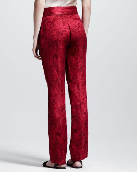 Printed Gazar Tuxedo Pants
