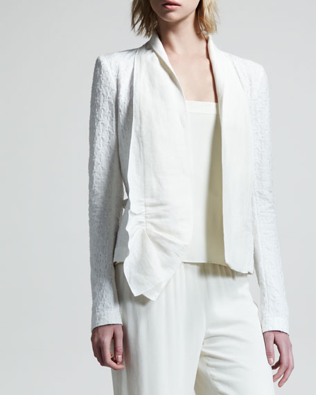 Macro Cotton Jacquard Jacket