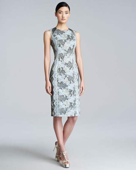 Tali Printed Sheath Dress