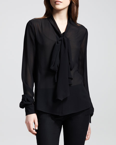 Silk Bow Blouse