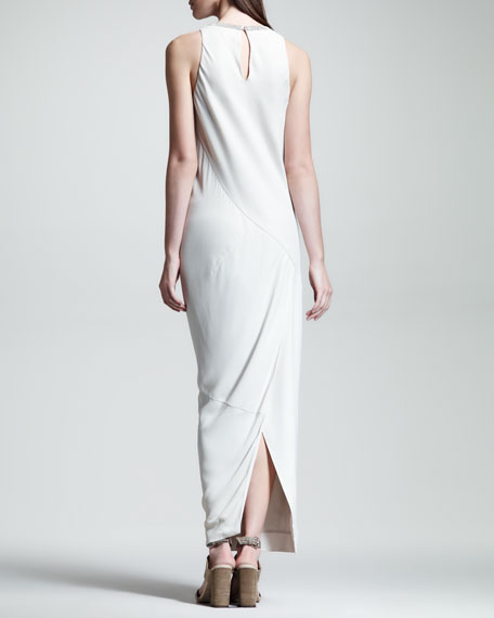 Bias-Cut Crepe Gown
