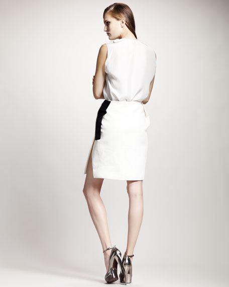 Grosgrain-Trim Skirt