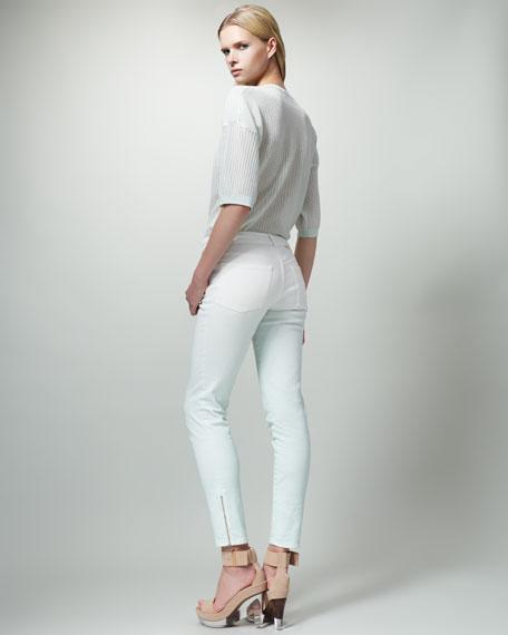 Slim Degrade Jeans, Mist