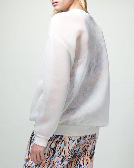 Sheer Sweatshirt, Beige