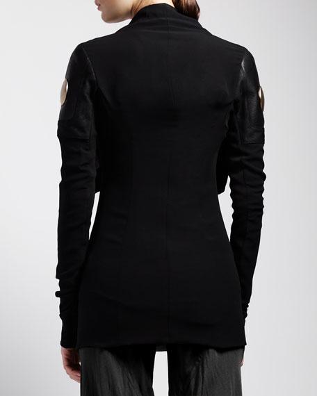Studded Knit Biker Jacket