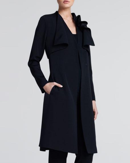 Layered Ottoman Coat, Black