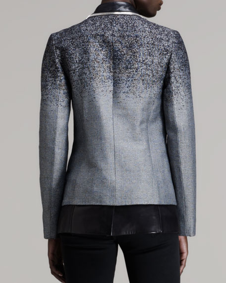 Layered Zip-Trim Blazer